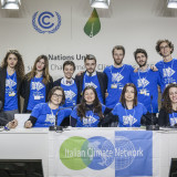 La delegazione di Italian Climate Network e la delegazione italiana giovanile