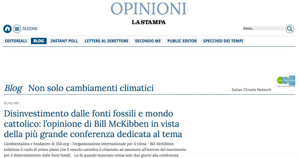 Cover La Stampa